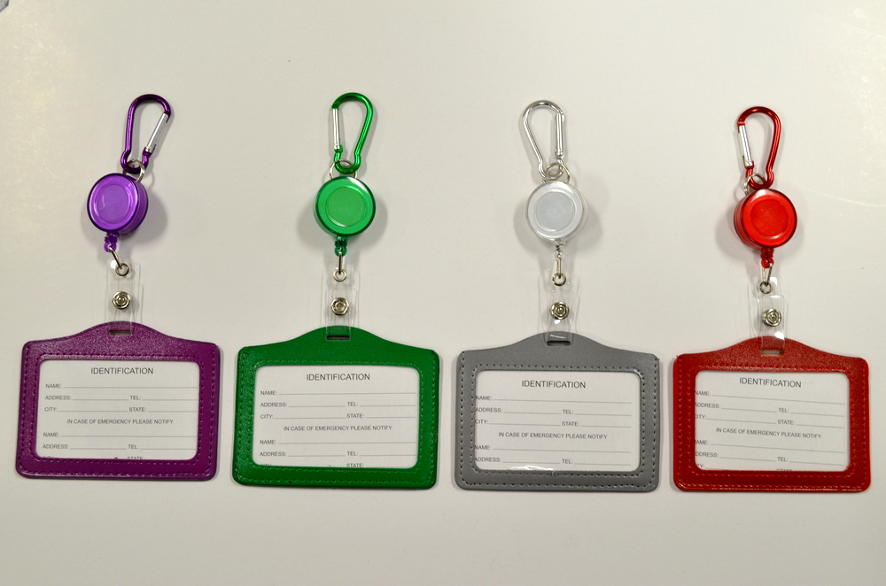 Assorted Color Horizontal ID Holder Pull String
