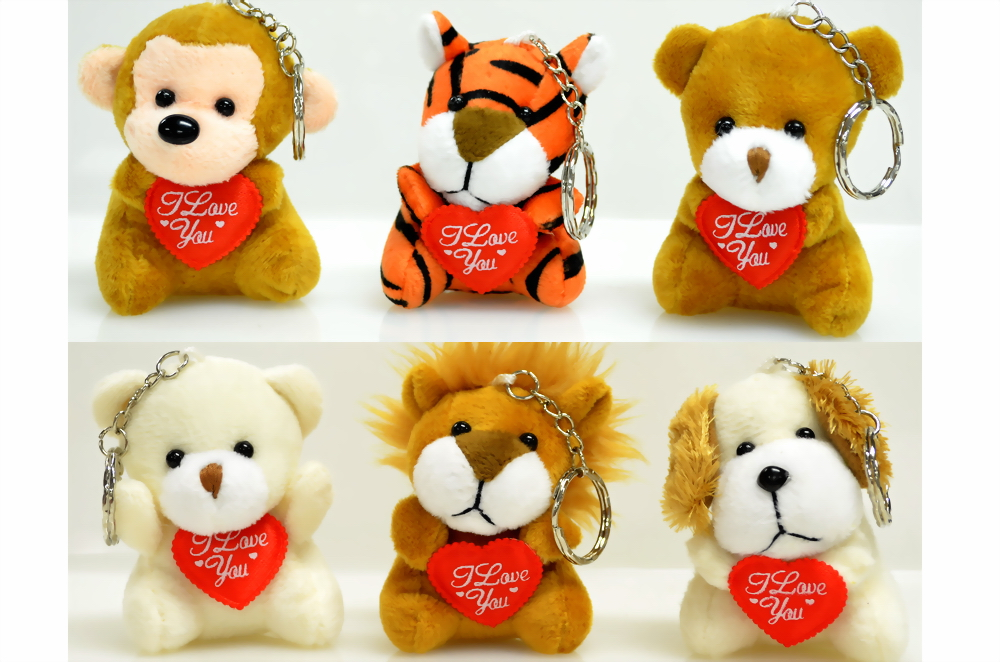 Cute Animal Key Chain w/ I Love U Heart