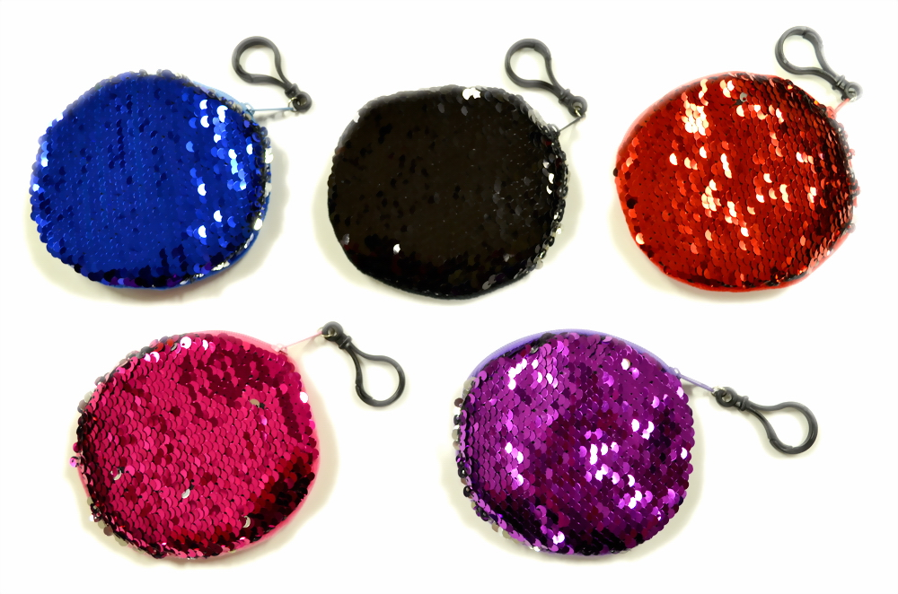 TWO TONE SEQUINED COIN PURSE