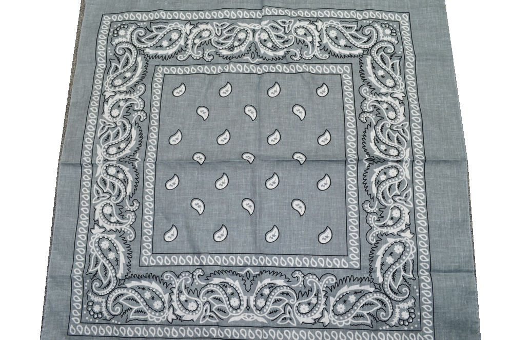 PAISLEY BANDANNA-GREY COLOR