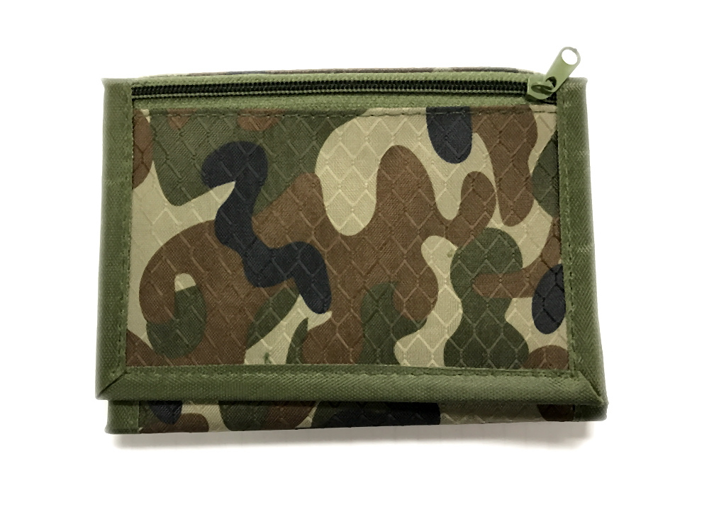 CAMOUFLAGE TRIFOLD VELCRO WALLET